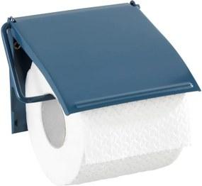 Suport de perete pentru hârtie toaletă Wenko Cover, albastru