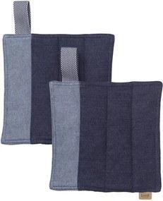 Set 2 suporturi pentru vase fierbinti albastru din bumbac organic Denim Pot Ferm Living