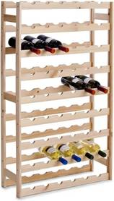 Suport sticle vin, lemn de pin, pentru 54 de sticle, 67,5 x 25 x 118 cm