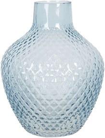 Vaza pentru flori din sticla albastra Ø 21 cm x 25 h