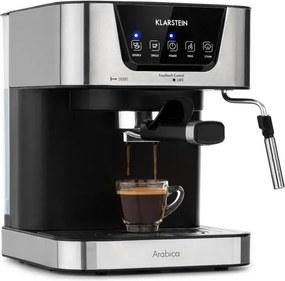 Klarstein Arabica, aparat de cafea espresso, 1050W, 15 bari, 1,5l, control tactil, oțel inoxidabil