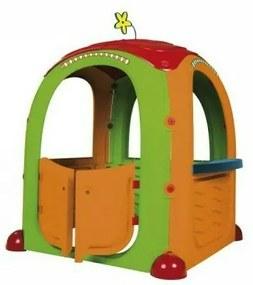 Paradiso Toys - Casuta de joaca pentru copii Cocoon Playhouse din plastic cu 3 autocolante supermarket bucatarie si atelier
