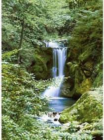 Fototapet Waterfall in Spring -  183x254 cm