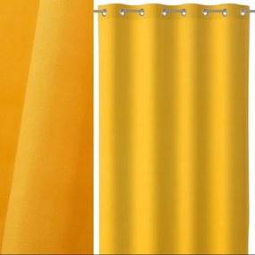 Draperie galbena din bumbac si poliester 140x260 cm Loving Colors Teresa Unimasa