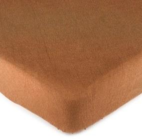 Cearşaf 4Home jersey, maro, 180 x 200 cm, 180 x 200 cm