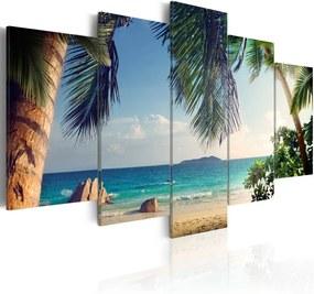 Bimago Tablou - Under palm trees 100x50 cm