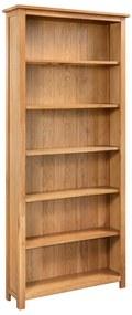 288474 vidaXL Bibliotecă cu 6 rafturi, 80 x 22,5 x 170 cm, lemn masiv stejar
