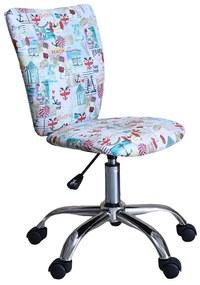 Scaun de birou pentru copii Sealine, textil multicolor cu motive marine