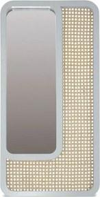 Oglinda dreptunghiulara alba/maro din lemn si placaj 40x80 cm Daisy White Objet Paris
