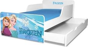 Pat copii Frozen 2-12 ani cu sertar si saltea cadou