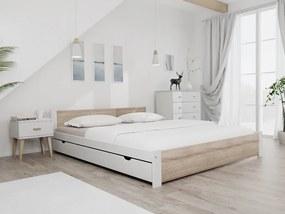 Maxi Drew Pat Ikaros, alb 180x200 cm Lamele: Fără lamele, Saltele: Cu saltele Coco Maxi 23 cm