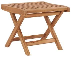 48981 vidaXL Taburet pliabil, 46,5 x 49 x 41,5 cm, lemn masiv de tec