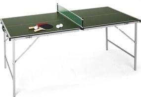 Klarfit King Pong, masă de ping-pong, pliantă, verde