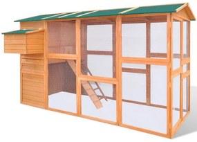 Coteț pentru găini din lemn 295 x 163 x 170 cm