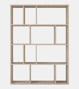 Bibliotecă Aidan, înălțime 122 cm, maro