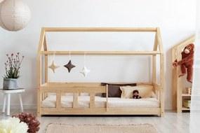 Pat pentru copii cu barieră Mila Classic  I 140x70 cm