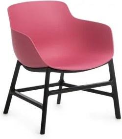 Scaun din plastic Ines Roz / Negru, l63xA62xH70 cm