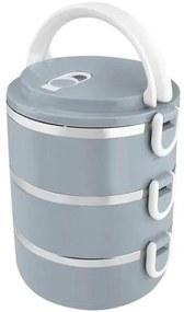 Cutie termoizolanta/sufertas pentru transport alimente, 3 piese, 2.1 L, albastru, Magic Home