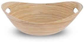 Castron oval Orion, bambus rulat, 32 x 24,5 cm
