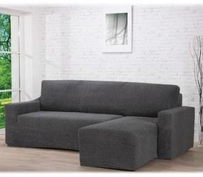 Huse care se întind foarte bine GLAMOUR gri canapea cu otoman dreapta (l. 210 - 270 cm)