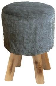 Taburet Alpia gri, 28 x 28 x 42 cm