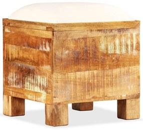 245138 vidaXL Bancă de depozitare, lemn masiv reciclat, 40 x 40 x 45 cm