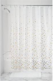 Perdea de duș iDesign Confetti, 183 x 183 cm