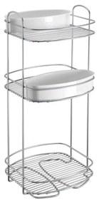 Suport cu 3 nivele pentru baie Metaltex, înălțime 65 cm
