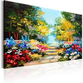 Tablou pe pânză - The Flowers Alley 90x60 cm