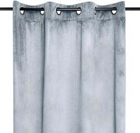 Draperie decorativă din velur DANAE gri deschis 140 x 260 cm 1 buc