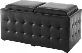 Lada de depozitare Dizzy Double Black, l90xA46xH45 cm