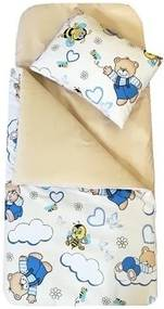 Deseda - Sac de dormit buzunar de iarna 0-1 ani Ursuleti crem
