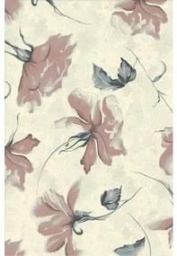 Covor sintetic Matrix model floral bej/roz 60x110 cm