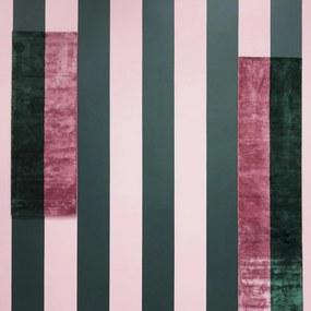 Covor Pavilion Verde/Roz 80x240cm NORMANN COPENHAGEN - Matase de bambus Multicolor Lungime (80cm) x Latime (240cm)