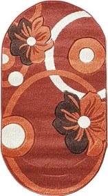 Covor Rixos Terra portocaliu oval 80x150 cm