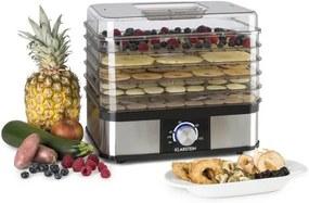 Klarstein Valle Deluxe uscător de fructe din oțel inoxidabil 250W deshidrator 5 etaje
