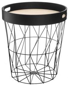 Masa cafea Moutr Black, cadru otel, 35x38 cm