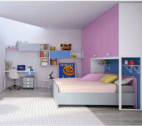 Dormitor complet Bedroom full bridge Eresem C128 Colombini home modern and colorful