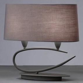 Mantra LUA 3683 Veioze, Lampi de masă gri închis 2xE27 max. 13W 18x40x38cm