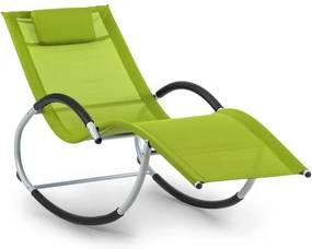 Blumfeldt Westwood, canapea tip leagăn, ergonomică, din aluminiu, verde