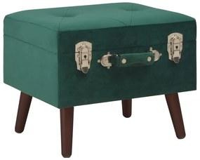 3070660 vidaXL Taburet de depozitare, verde, 40 cm, catifea