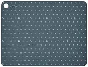 Suport pentru Farfurie X-MAS( set 2 buc) - Silicon Gri Inchis Lungime(45 cm) x Inaltime( 34 cm x 0.15 cm)