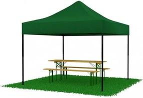 Cort pavilion 3x3 verde SQ LITE Nožnicový stan + kotviaca sada