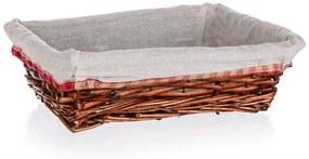 Cos pentru depozitare, Classic, Home Decor, 26x18x7.5 cm, rachita