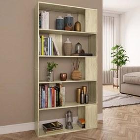 800102 vidaXL Bibliotecă/Separator cameră, stejar Sonoma, 80x24x159cm PAL