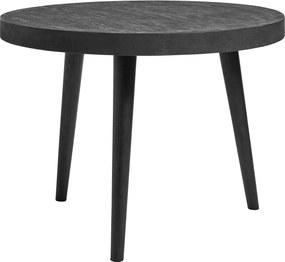 Masa dining lemn neagra Concrete ø 100 cm | NORDAL