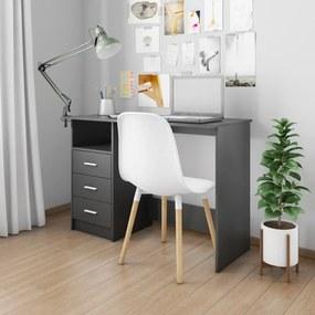 800559 vidaXL Birou cu sertare, negru, 110 x 50 x 76 cm, PAL