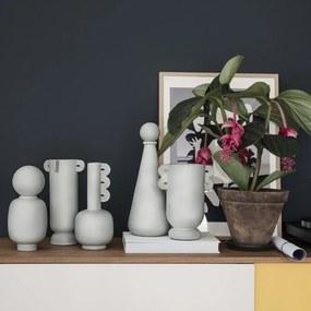 Vaza Gri Muses Clio - Ceramica Gri Diametru( 13.5 cm x 13.5 cm) X Inaltime( 29.8 cm)