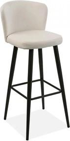 Scaun bar alb/negru din poliuretan si metal Brenna Versa Home
