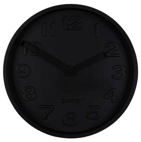 Ceas rotund de perete din ciment Concrete Time All Black